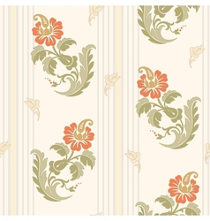 Decorative flowers in classic style vector image