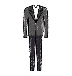 elegant office suit icon vector image
