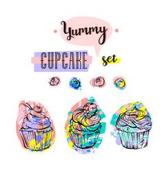 hand drawn abstract creative sweet food vector image