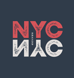 nyc t-shirt and apparel design with textured vector image vector image
