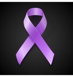 Periwinkle ribbon Eating Disorder awareness vector image vector image