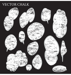 Set of hand drawn doodle chalk bubbles vector image
