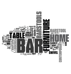 bar furniture for your home text word cloud vector image