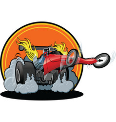 cartoon dragster vector image vector image