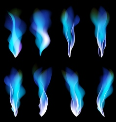 dark blue abstract background smoke vector image vector image