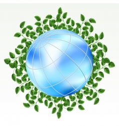 earth with grass vector image vector image