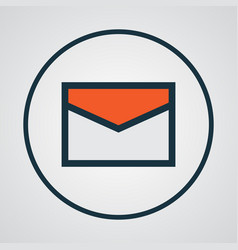 Email colorful outline symbol premium quality vector