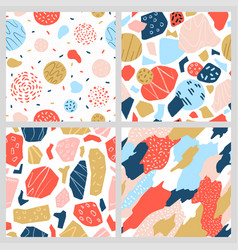 a collection colorful geometric patterns vector image