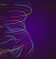 abstract moving colorful lines on dark background vector image