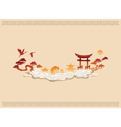 Abstract of Chinese Background vector image