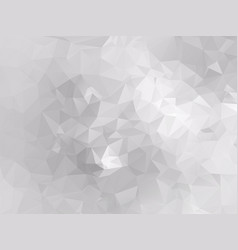 abstract white low poly background vector image