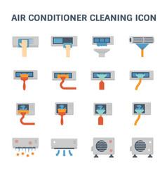 Air conditioner clean vector