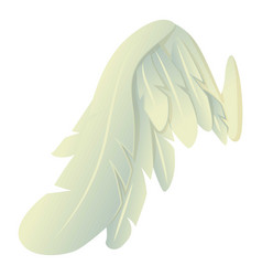 Angelic wing icon cartoon style vector