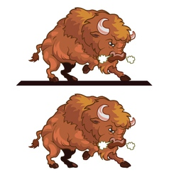 Angry Bull Mascot vector