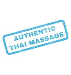 Authentic Thai Massage Rubber Stamp vector