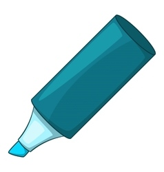 Blue marker icon cartoon style vector image