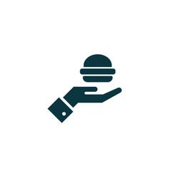 burger icon simple vector image