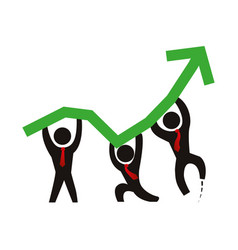 Business men growing statistics vector