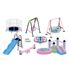 children playground set different children s vector image