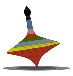 Clipart a colorful spinning top set on vector