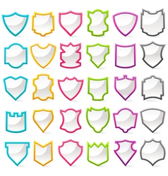 colorful shield collection vector image