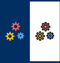 Configuration gears preferences service icons vector