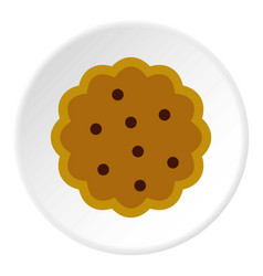 Cookies icon circle vector