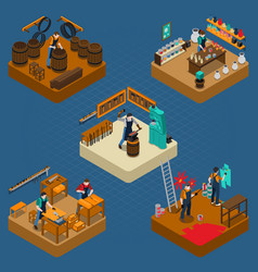 craftsman isometric vector image