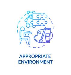 Daycare center environment concept icon vector