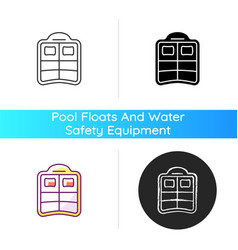 double pool float icon vector image