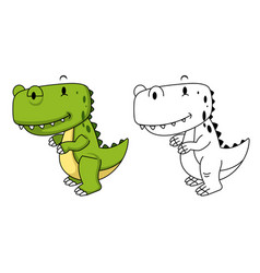 Educational coloring book-dinosaur vector