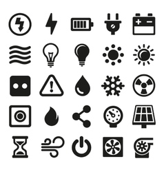 Electric Icons Set on White Background vector image