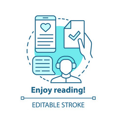 enjoy reading concept icon passionate readers vector image