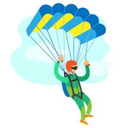 extreme sport skydiving sportman flying vector image