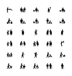 Family and Human Icons 3 vector