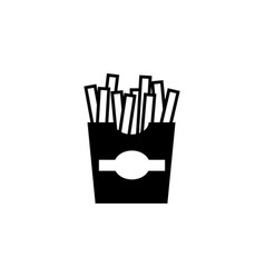 fast food french fries flat icon vector image