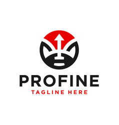 financial marketing business arrow logo vector image