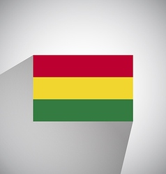 Flat Flag of Angola Bolivia vector