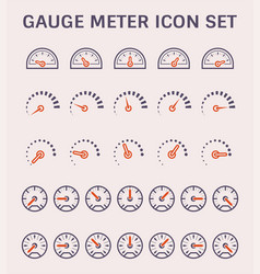 gauge meter icon vector image