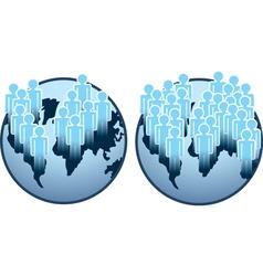 Globe people vector