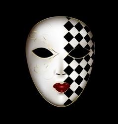 Golden white mask vector