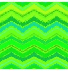 Hand drawn zigzag pattern in grass green vector