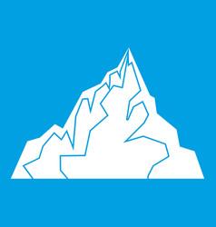 iceberg icon white vector image