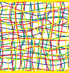 intricate colored wires seamless pattern vector image