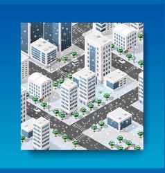 isometric city landscape vector image