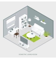 Isometric Home Interior vector image
