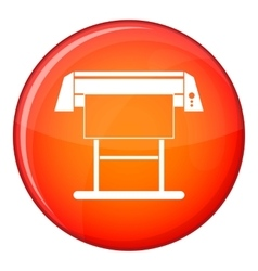 Large format inkjet printer icon flat style vector image