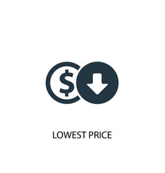 Lowest price icon simple element vector