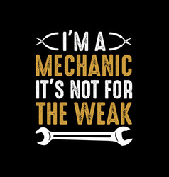 Mechanic funny saying and quote vector