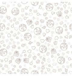 mobile apps pattern vector image